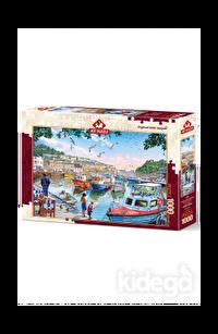 Art Puzzle Limandaki Küçük Balıkçılar 1000 Parça