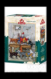 Art Puzzle Renkli Kediler 260 Parça