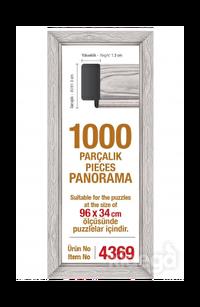 Art Puzzle 1000'lik Beyaz Çerçeve Panorama 96 x 34 cm