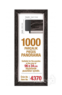 Art Puzzle 1000'lik Siyah Çerçeve Panorama 96 x 34 cm
