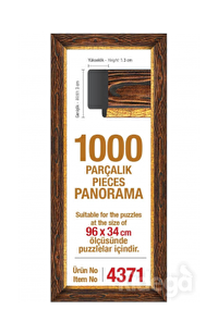 Art Puzzle 1000'lik Kahverengi Çerçeve Panorama 96 x 34 cm