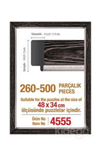 Art Puzzle 500'lük Siyah Çerçeve 48 x 34 cm