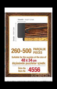 Art Puzzle 500'lük Kahverengi Çerçeve 48 x 34 cm