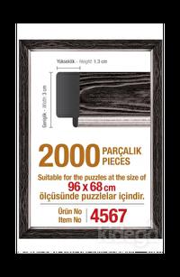 Art Puzzle 2000'lik Siyah Çerçeve 96 x 68 cm