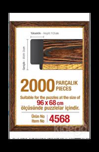 Art Puzzle 2000'lik Kahverengi Çerçeve 96 x 68 cm