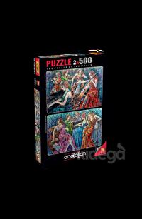 Anatolian 2x500 Parça Puzzle Renkli Notalar