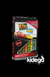 Cars 3 (Şimşek McQueen&Cruz Ramirez) Kum Boyama Seti (2'si 1 Arada)