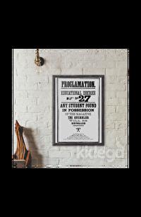 Poster -  Hogwarts Proclamation No 27 Büyük
