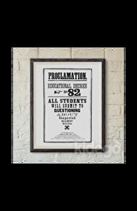 Poster - Hogwarts Proclamation No 82 Büyük