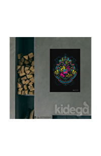 Poster - Hogwarts Neon Logo Küçük