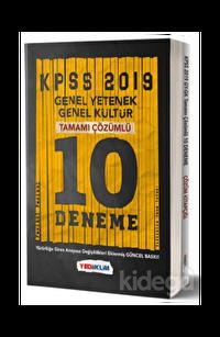 Yediiklim KPSS Genel Yetenek Genel Kültür Tamamı Çözümlü 10 Fasikül Deneme