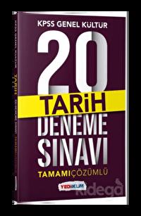 Yediiklim KPSS Genel Kültür Tarih Tamamı Çözümlü 20 Deneme Sınavı