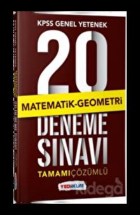 Yediiklim KPSS Genel Yetenek Matematik Geometri Tamamı Çözümlü 20 Deneme Sınavı