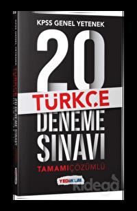 Yediiklim KPSS Genel Yetenek Türkçe Tamamı Çözümlü 20 Deneme Sınavı