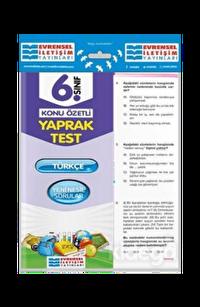 Evrensel 6. Sınıf Türkçe Konu Özetli Yaprak Test