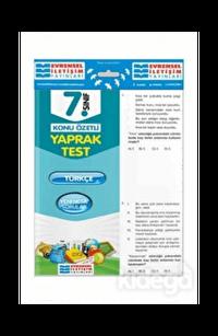 Evrensel 7. Sınıf Türkçe Konu Özetli Yaprak Test
