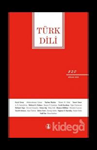 Türk Dili Dergisi Sayı: 820 Nisan 2020