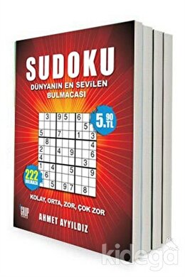 Yetişkinler İçin Sudoku (8 Kitap Takım)