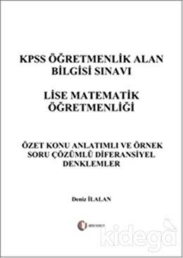 KPSS Öğretmenlik Alan Bilgisi Sınavı Lise Matematik Öğretmenliği - Diferansiyel Denklemler