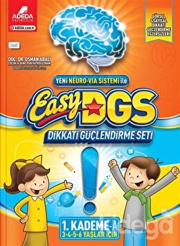 Easy DGS Dikkati Güçlendirme Seti (3 - 4 - 5 - 6 Yaşlar İçin) 1. Kademe A