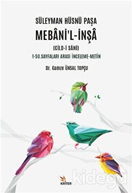 Süleyman Hüsnü Paşa Mebani'l-İnşa (Cild-i Sani)