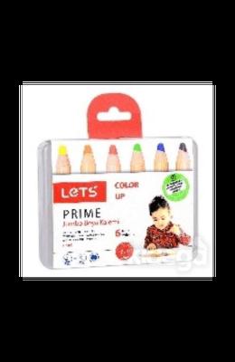 Lets Prime 6 Renk Jumbo Boya Kalemi
