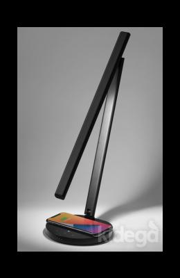 MOMAX BRIGHT IoT Wirelles Şarjlı Akıllı LED Masa Lambası Siyah