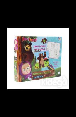 Laço Kids Masha Koca Ayı Boyamalı Puzzle
