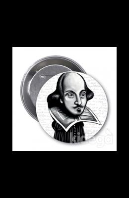 William Shakespeare (Karikatür) - Rozet