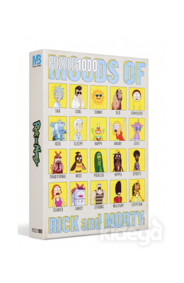 Rick And Morty 1000 Parça Moods Puzzle