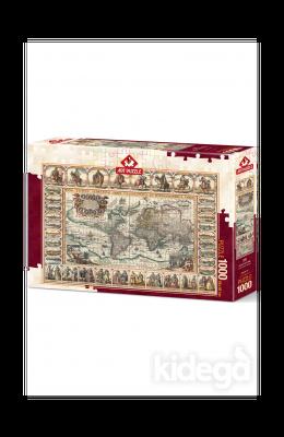 Art Puzzle Eski Dünya Haritası 1000 Parça